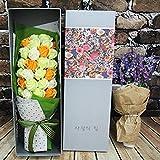 LE Fiore eterno 33 regalo creativo rosa sapone sapone scatola regalo sapone compleanno dal vivo compleanno regalo creativo anniversario,E