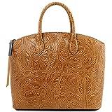 Tuscany Leather - Sacs à main en cuir - Gaia - Cognac (TL141670)