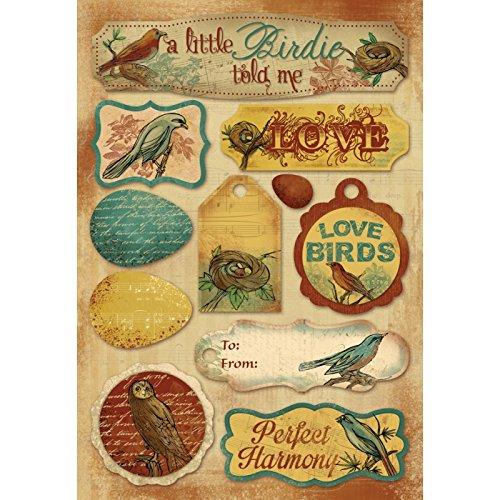 Antike Vogel-prints (Unbekannt Karen Foster Bogen Karton-Aufkleber, Vintage-Vögel Antik Vintage Vögel)