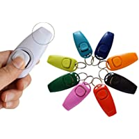 KIEPAWS Dog Clicker and Whistle 2 in 1 Training and Behaviour Aid for All Breeds and Ages Puppy Friendly Great for House Toilet Recall and Agility Training