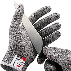 NoCry Cut Resistant Gloves - High Performance Level 5 Protection, Food Grade. Size Small