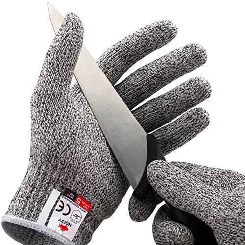 Größe Leder-arbeits-handschuhe Klein (NoCry Schnittfeste Handschuhe – Leistungsfähiger Level 5 Schutz, lebensmittelecht. Größe : S, 1 Paar)
