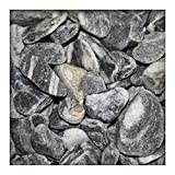 Kieskönig Flusskiesel New Linea Schwarz Weiss Zierkies River Pebbles Ziersteine 25 kg (Sackware)