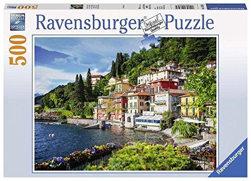 Ravensburger- Lake como, Italy Puzzle 500 Piezas, (1)