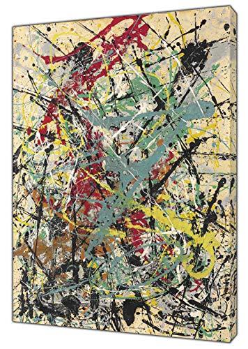 Kunstdruck auf Leinwand, Motiv Jackson-Pollock, Nr. 16, gerahmt, Kunstdruck auf Leinwand, 30'' x 24'' inch(76x 60 cm)-18mm depth -