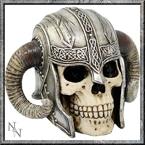"Fabulous gothic ""Viking Skull Nemesis now figure Ornament New & boxed"