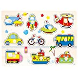 BINO 88115 - Puzzle Verkehr, 10-teilig