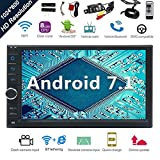 Android 7.1 32GB 2GB Auto-Stereoradio mit Octa-Core Bluetooth-GPS-Navigation Unterst¡§1tzung Fastboot WiFi Mirrorlink USB SD Backup-Frontkamera 7?¡À 1024 * 600 kapazitive Touchscreen Doppel-DIN + FREE