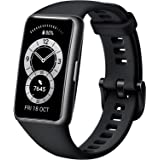 """HUAWEI Band 6, All-day SpO2 Monitoring, 1.47"""" FullView Display, 2-Week Battery Life, Fast Charging, Heart Rate Monitoring, Sl"""