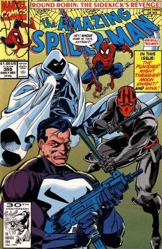 The Amazing Spiderman, Issue No. 355: Punisher / Moon Knight / Night Thrasher / Nova by Stan Lee (1991-12-01)