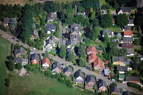 MF Matthias Friedel - Luftbildfotografie Luftbild von Steertpoggweg in Norderstedt (Segeberg), aufgenommen am 08.06.08 um 16:20 Uhr, Bildnummer: 5091-04, Auflösung: 4288x2848px = 12MP - Fotoabzug 50x75cm