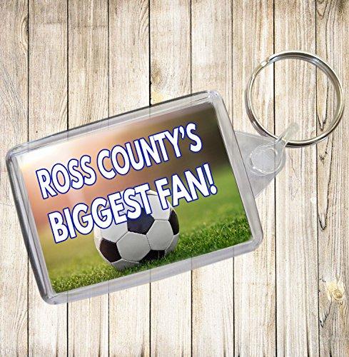 Ross County 's Biggest Fan Fußball Schlüsselanhänger-Geburtstag Geschenk/Strumpffüller