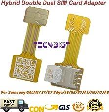 TECNOIOT Hybrid Dual SIM Card Adapter Micro SD Nano SIM Extension Adapter for Android |Dual SIM Nano zu Nano SIM Adapter SIM Karte Adapter Verlängerungskabel für Samsung Huawei Xiaomi HTC