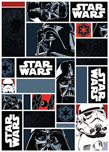 Associated Weavers Alfombra con diseño Star Wars, Nylon, Azul, 100 x 130 cm