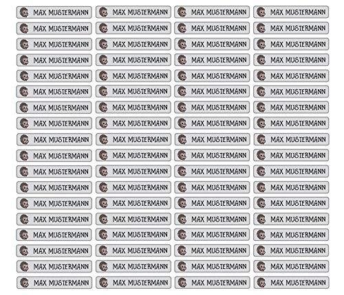 Stifteaufkleber für Bleistifte, Kugelschreiber & weiteres Namensaufkleber Namen Sticker Aufkleber 49x7,5mm   72 Stück Kinder & Erwachsene Schule & Kindergarten 37 Hintergründe Affe monkey (Wandtattoo Namen Monkey)
