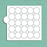 Dotted Circles all over Cookie and Craft stencil CM084by designer Stencils
