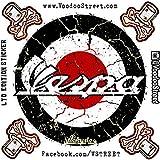 Vespa rot weiß und schwarz Rondell Aufkleber