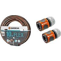 Gardena Comfort FLEX Schlauch 13 mm (1/2 Zoll), 10 m & Schlauchverbinder-Satz 13 mm (1/2 Zoll) und 15 mm (5/8 Zoll…