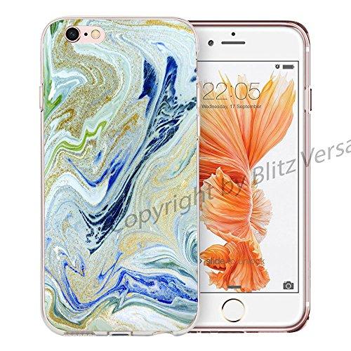 Blitz® MARBRE motifs housse de protection transparent TPE caricature bande iPhone Marbre blanc M2 iPhone 8sPLUS Dream M16