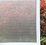 Concus-T Static Cling nessun Adesivo Vinile Premio Decorative Frosted Stripes Privacy Window Film 60x300cm