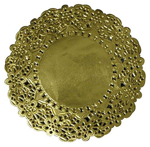 TAMLED Tortenspitzen rund 14 cm 100 Stück Gold