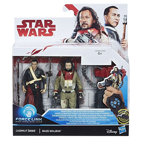 CHIRRUT DOZENTEN UND BAZE MALBUS STAR WARS FORCE LINK ACTION FIGUR 3 PACK