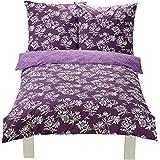 AmazonBasics - Juego de funda de edredón y 2 fundas de almohada (100% algodón, 155 x 220 cm y 80 x 80 cm), diseño floral