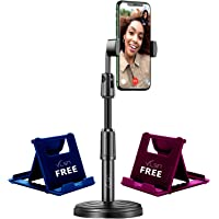 VLSA® ( Free 2 Mobile Stand ) Mobile Phone Stand and Holder for Online Classes Table Bed Youtuber Video Recording Tripod…
