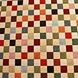 Stoff Baumwolle Polyester Gobelin Karo klein bunt Decke
