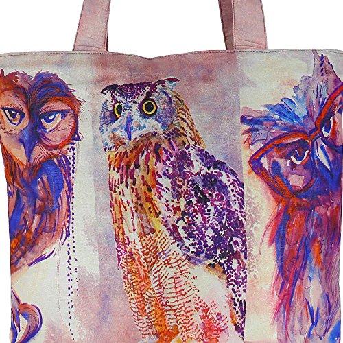 Digital gedruckte Multi Mode-Einkaufstasche - Bunte Faux Silk Taschen-Tasche mit Polysatin Futter Multi-48