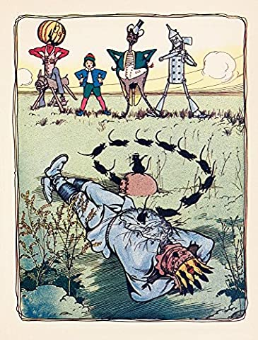 John R. Neill – The Marvelous Land of Oz 1904 Mice hid in the scarecrow Fine Art Print (45.72 x 60.96 cm)