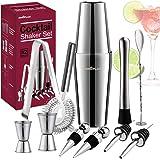 Cocktail Shaker, Cocktail Set Geschenk, Premium Boston Shaker 750ML550ML Geschenkset, Cocktailshaker Bar Zubehör Set…