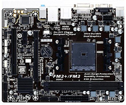 Gigabyte GA-F2A68HM-HD2 - Ultra Durable F2A68HM-HD2 Motherboard AMD A/Athlon Series Processors Socket FM2+ AMD A68H Micro ATX SATA/RAID Gigabit LAN...