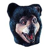 Maschera orso in gomma animale con peli