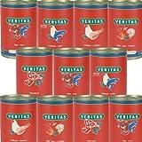 Veritas Katzenmenü 28 x 400 g Dosen in 5 Geschmacksrichtungen Gourmet Katzennahrung Katzenfutter Nassfutter ohne Konservierungsstoffe, keine chemischen Farb-, Duft- und Lockstoffe
