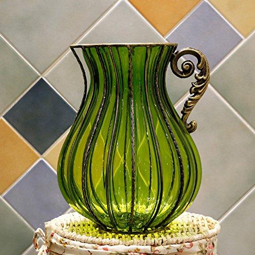 European Style, [creative],[rural], Glass Vase/living Room Simulation Flower Flower Arranging Vase/desktop Decorations-a