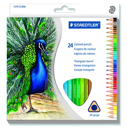 Staedtler 24CT Triangular Colored Pencils (1270 C24A603ID) by Staedtler