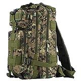 OUTAD Zaino Militare Tattico 30L in Oxford, 3P Zaino Molle Campeggio Escursionismo Zaino d'Assalto Bag Woodland Camouflage