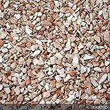 Steinteppich Marmorkies für 2qm | BEKATEQ BK-600EP Bodenbelag Bodenbeschichtung (25KG Marmorkies + 1,5KG Bindemittel, Mediterran - Rosa Corallo)