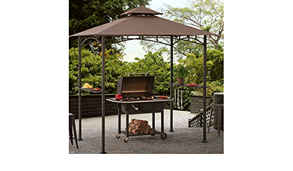 Grill Gazebo Metal Gazebo Marquee Patio Non Rust 5 X 8 Ft Bbq Amazon De Garten