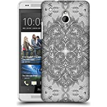 Official Micklyn Le Feuvre Vintage Winter Monochrome Doodle Mandala 2 Hard Back Case for HTC One mini