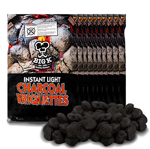X10 Instant Light the Bag Charcoal Briquettes 1.5kg / bag - BBQ Stoves Fire Restaurant Open Fire - Comes with THE LOG HUT� Woven Sack