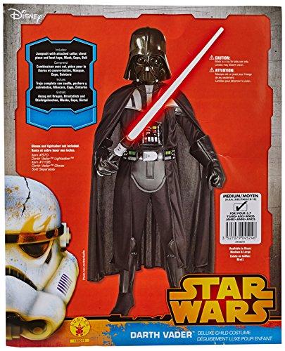 Lucas St-155.019M - Costume Deluxe per Travestimento da Darth Vader, incl. Mascherina, Bambini, M