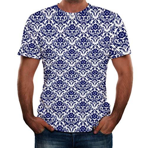 Herren-T-Shirt, bunt, 3D-Druck, kurzärmelig, modisch,beiläufige (Neue Captain America Kostüm Comics)