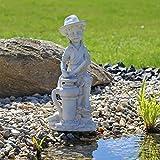 """Statua per Fontana """"Ragazzo"""" per Laghetto Stagno Scultura Decorazione per il Giardino Arredo esterno figurina decorativa per Balcone Terrazza esterno e interno o per gioco d'acqua - CLGarden - amazon.it"""