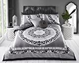 Amor Fashion Paisley Bettbezug & Kissenbezüge Set Bettwäsche Digitaldruck Quilt Cover Case Bettwäsche Set Schlafzimmer Sofa, Polycotton, Paisley Mandala Black, Doppelbett