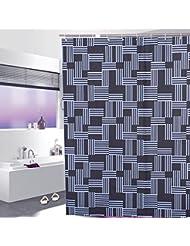 D G F Cortina de ducha PEVA Cuarto de baño interior Alta calidad Opaque Impermeable Niebla Cortinas transpirables Multi-tamaño Opcional ( Tamaño : 150*180cm )