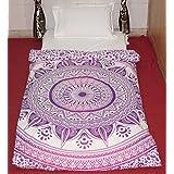 Morado Ombre Decor Mandala decorativo étnico Decoración Cama Doble de funda de edredón juego de cama Ropa de cama de la India Diseño Estilo Indio Ombre para cama doble ropa de cama juego de cama étnico estilo indio impreso cama por Big Online Bazar