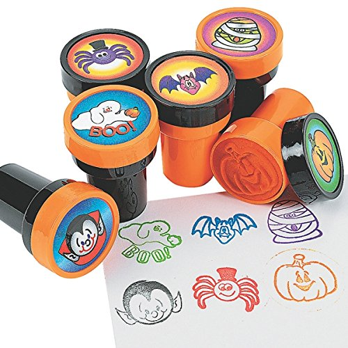 6 x Halloween Kinderstempel Mumie Geist Fledermaus Spinne Vampir Stempel Gespensterparty