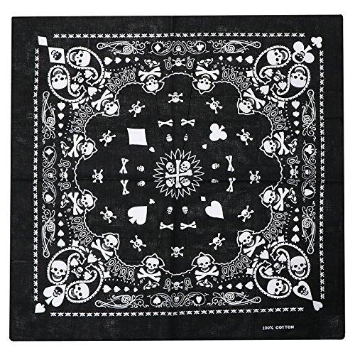 trixes Pañuelo Negro Bufanda de Doble Faz para la Cabeza Diseño...